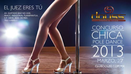 Concurso chica pole dance 2013 club douss
